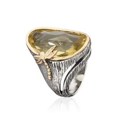 Anillo plata y oro Styliano