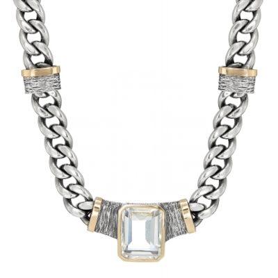 Collar Styliano plata y piedras semipreciosas