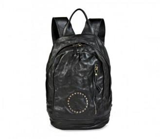 Bolso mochila piel negro