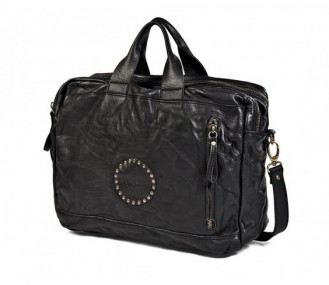 Bolso maleta piel bovina negro