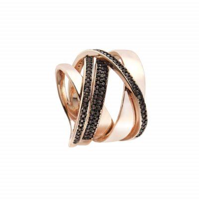 anillo plata oro rosa