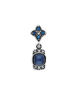 pendiente platadepalo circonia azul