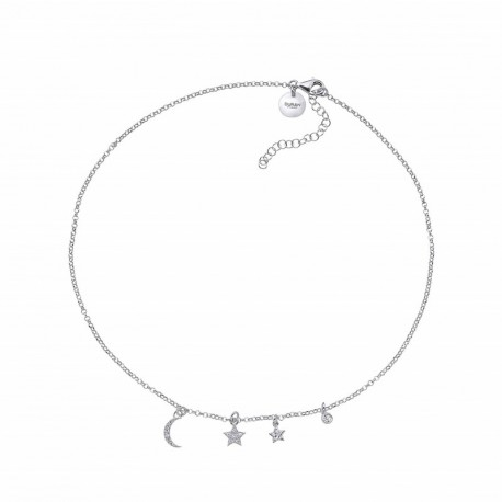 Colgante gargantilla de Duran en plata con Astros y circonias