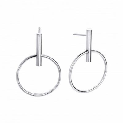 pendientes aro plata
