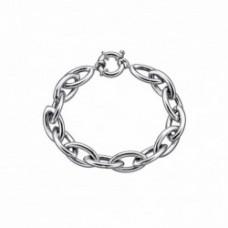 pulsera cadena plata