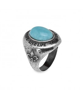 anillo plata hombre