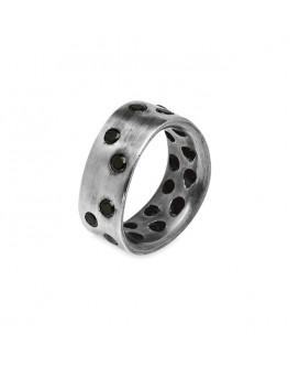 anillos hombre de plata