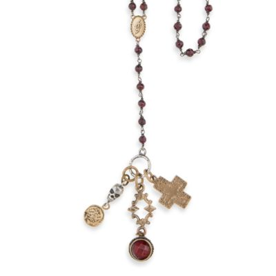 Collar rosario skull PLATADEPALO