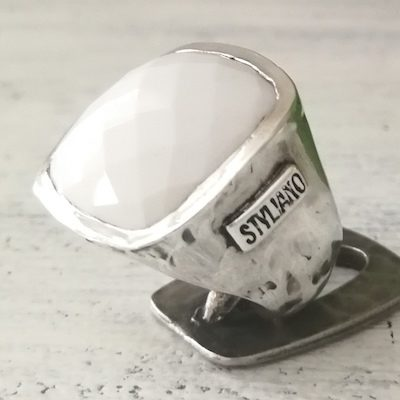 anillo-ágata blanca-plata-styliano