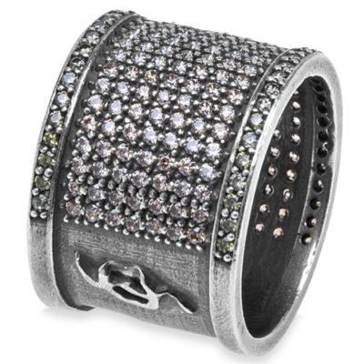 anillo, plata, circonitas, ambar