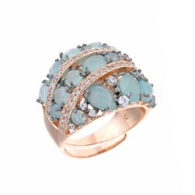 anillo-plata-oro rosa-amazonita