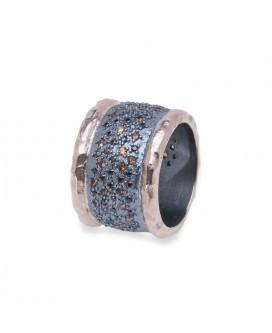 anillo plata y oro rosa