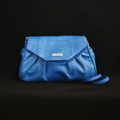 Bolso Pitón azul eléctrico
