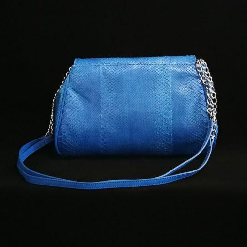Bolso pitón azul