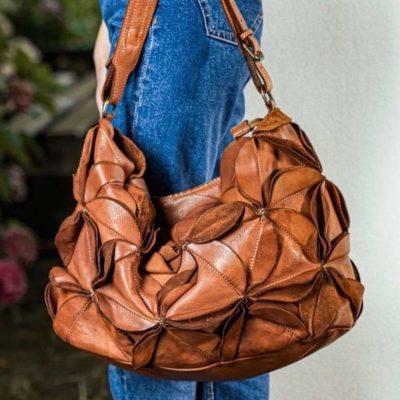 Bolso de mujer piel italiana lavada efecto vintage