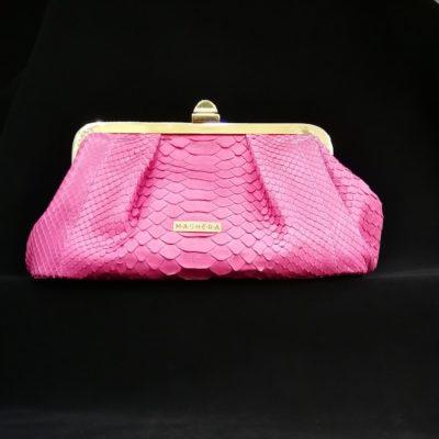 Bolso pitón rosa fucsia