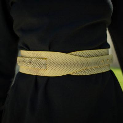 cinturon para vestidos-cinturon para faldas-piel serpiente