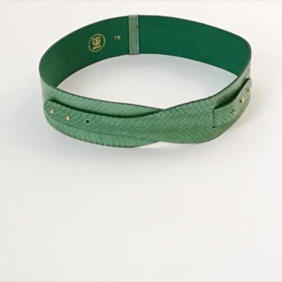 cinturon para vestidos-verde-piel serpiente