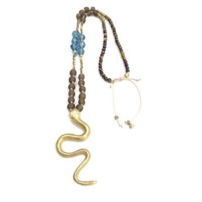 Collar serpiente de bronce