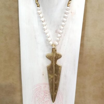 Collar lanza bronce