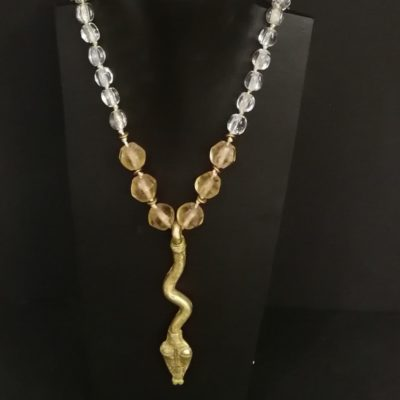 Collar serpiente bronce