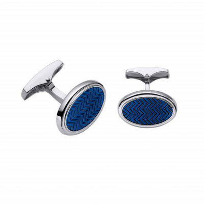 Gemelo Tweed Color Blue. Plata de Ley 925