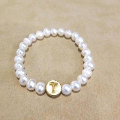 Pulsera abecedario perla