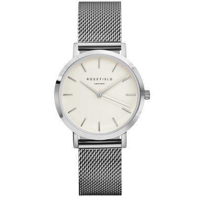 Reloj Rosefield malla milanesa acero inoxidable color plata