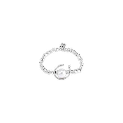 pulseras uno de 50- plata y perla pulseras